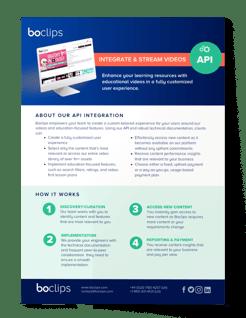 Boclips API Info Sheet