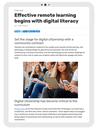 Effective remote learning begins with digital literacy