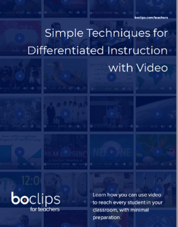 Simple Techniques for Differentiated Instruction with Video Ebook Cover