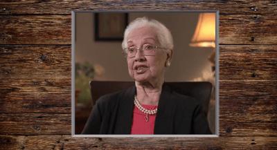 Katherine Johnson educational history video for International Women's Day
