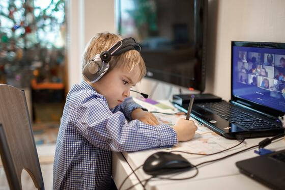 Young learner distance learning with video